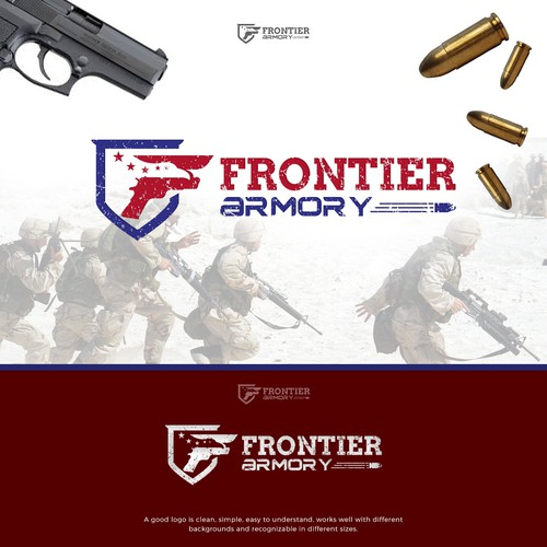 Frontier Armory Logo Design