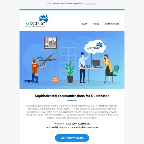 Wirephin Email design