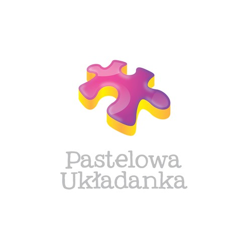 Playful Puzzle Piece Logo for a Nursery School for Autistic Children