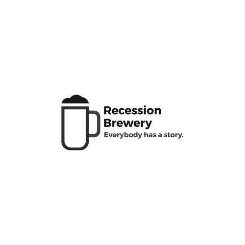 Logo concept for Recession Brewery