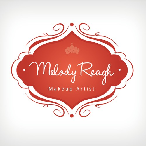 logo for Melody Reagh, Makeup Artist