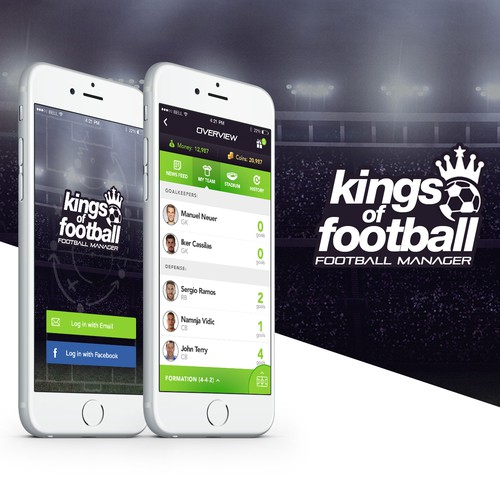 Footbball Manager Game for iOS.