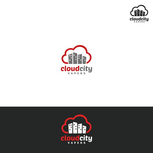 Create a company logo for Cloud City Vapers