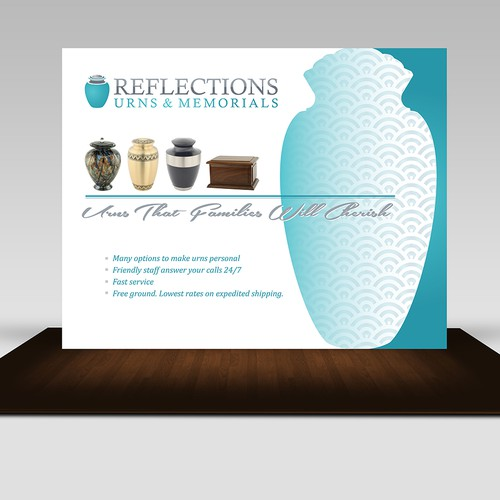 Seeking clean, strong design for trade show banner graphic 10 ft. wide