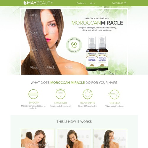 Clean and green design for beauty products
