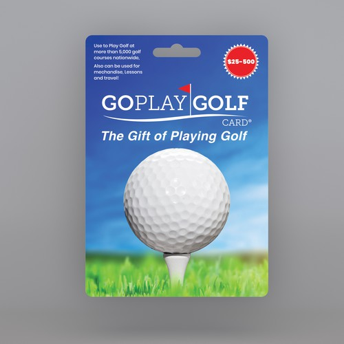 Golf Gift Card Packaging