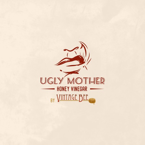 Illustrative Logo Concept for Honey Vinegar