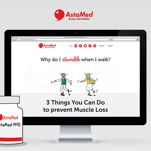 Infographic vibe website for medical supplement
