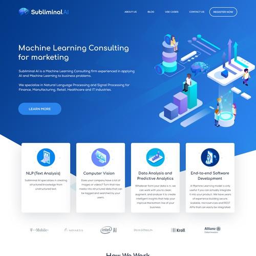 Minimal & Clean Design For Subliminal AI
