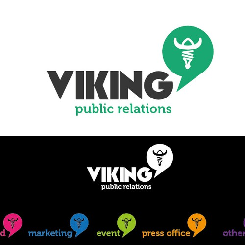 Create a simple, elegant Logo for VIKING Public Relations