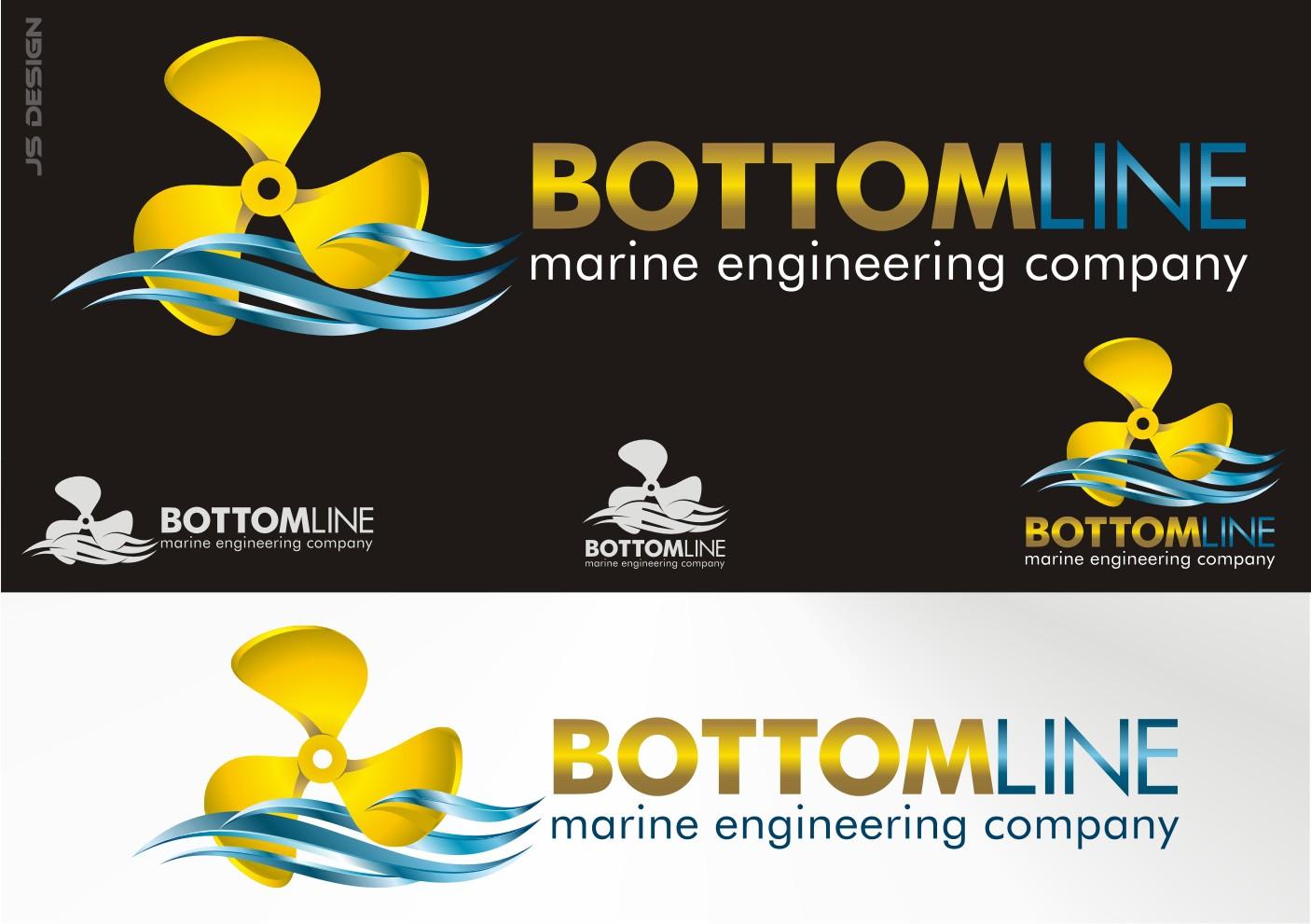 Create the new logo for Bottomline Marine engineering