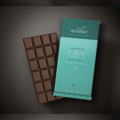 Chocolate bar package design