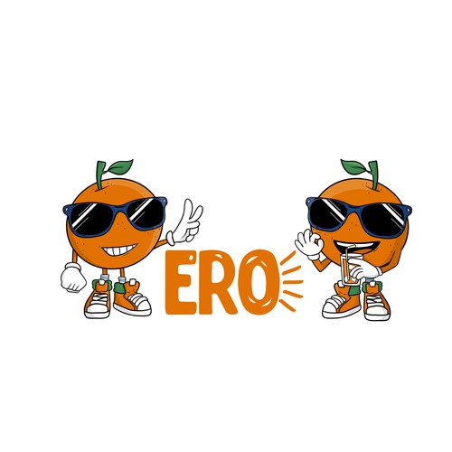 Orange character for soft drinks brand
