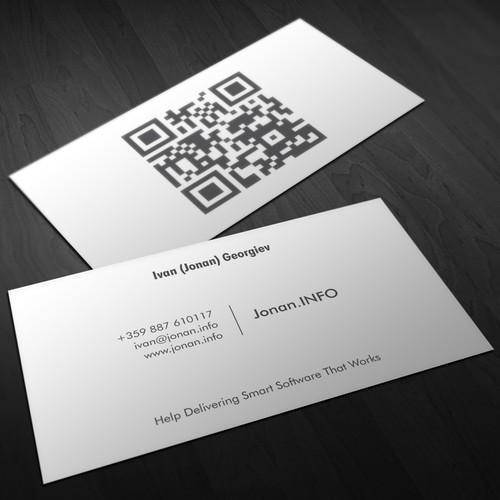 Business Card For Jonan.Info