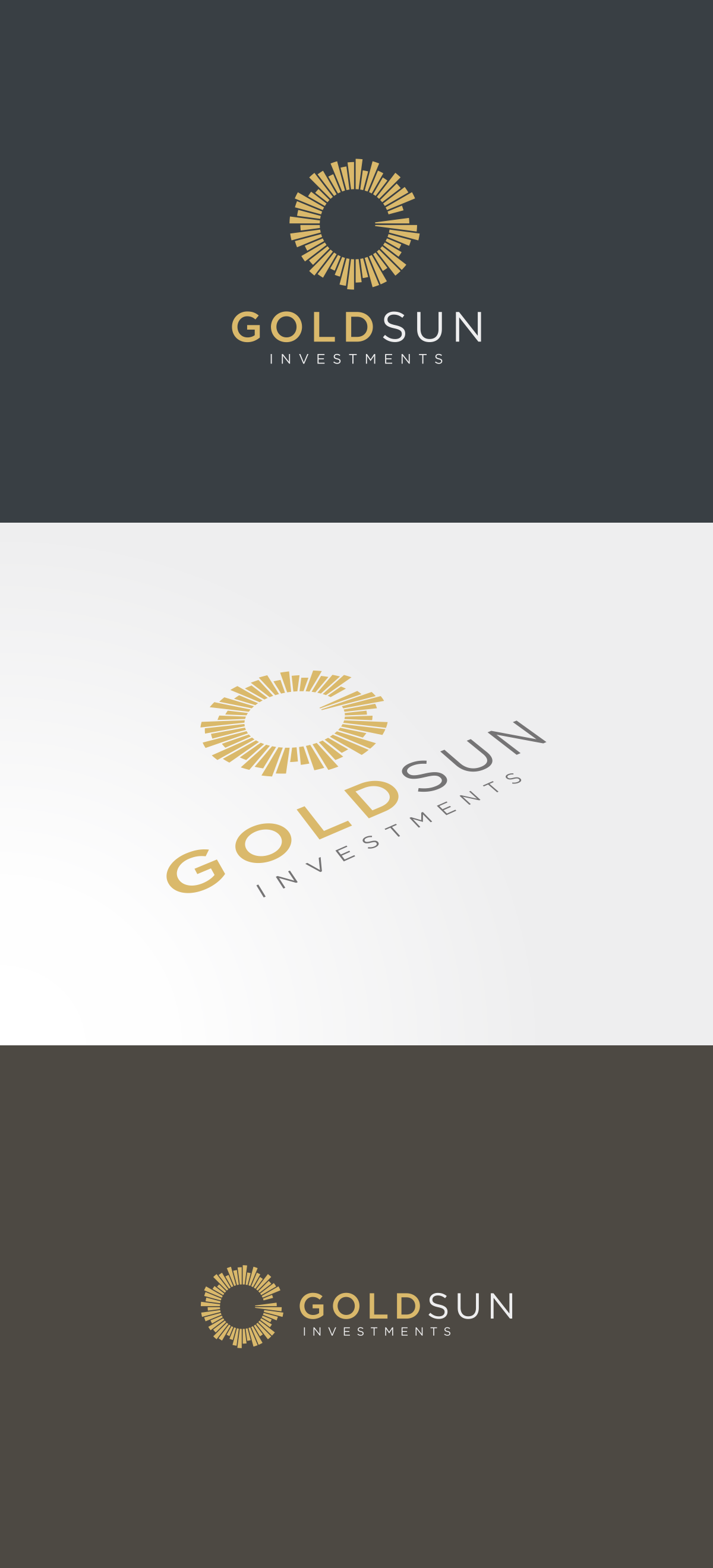 Investment company platform design logo