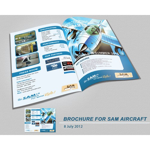 SAM AIRCRAFT needs a 2 pages brochure