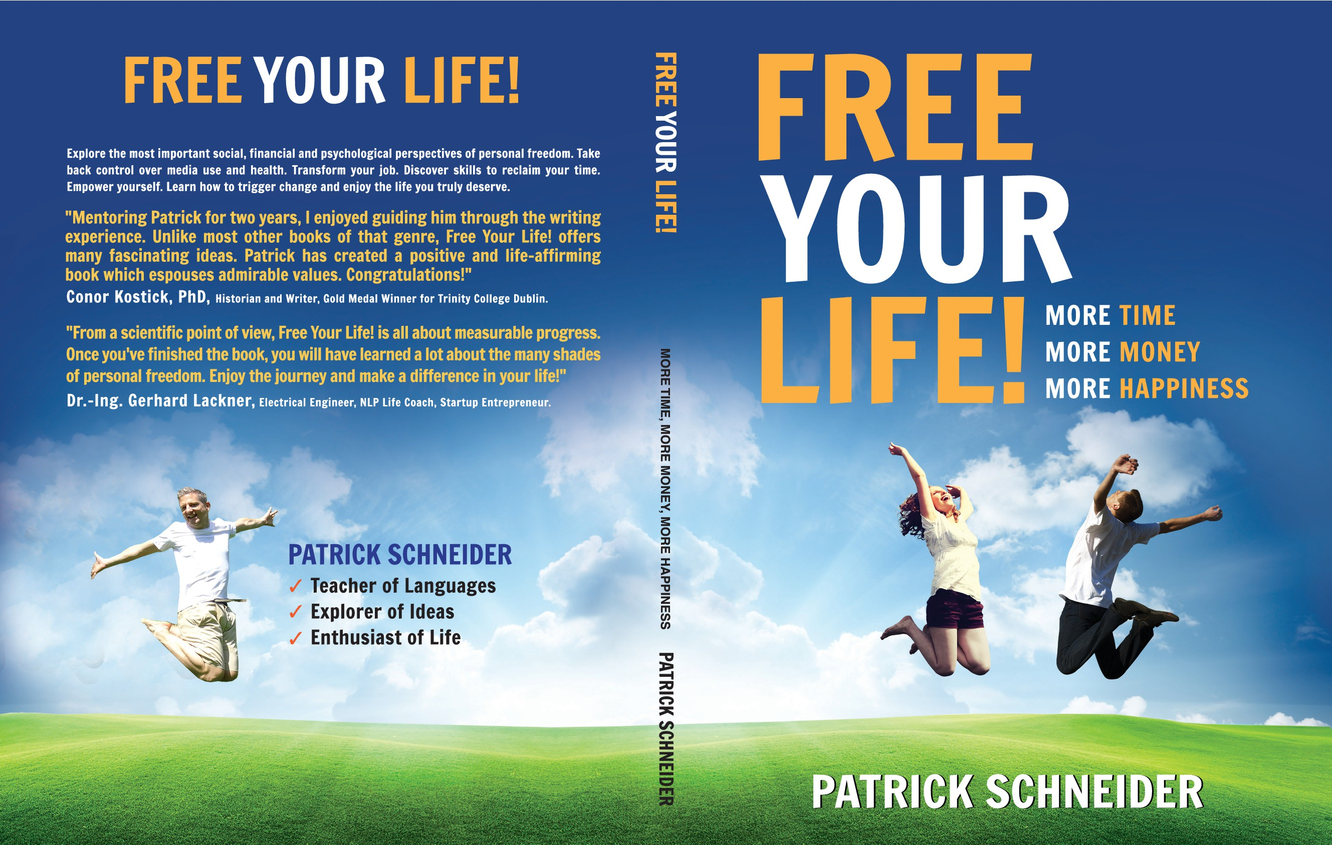 Design a book cover that visualizes personal freedom!