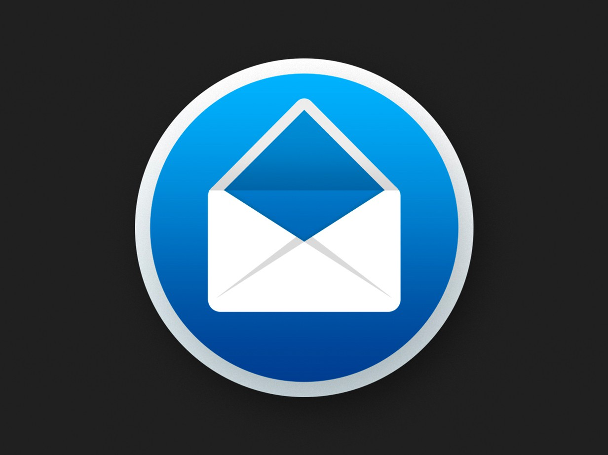 Create a vibrant icon for my email client on Mac.