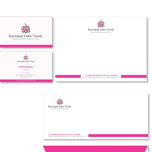 Feminine, pinkish stationery