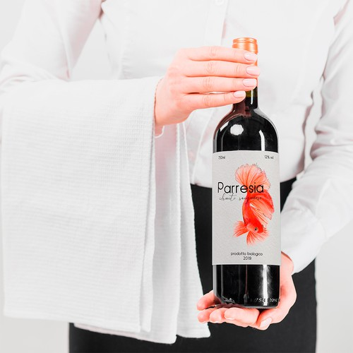 Parresia - Wine Label