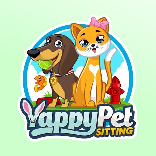 Yappy Pet Sitting logo design