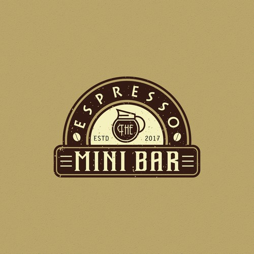 vintage logo for espresso bar