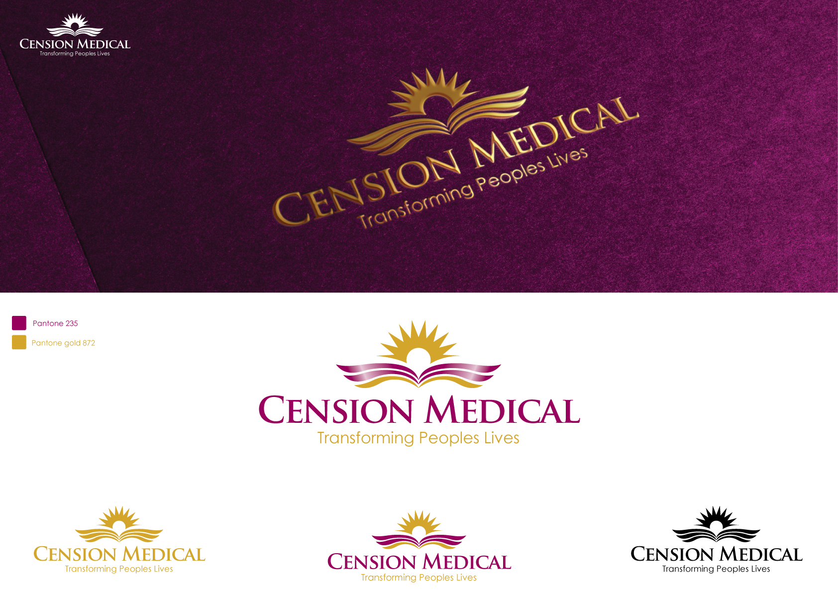 Design a Company and Seperate Product Logo for a Medical Company using symbolism