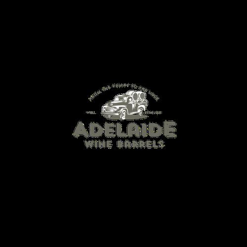 vintage logo concept for wine barrel sales company