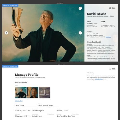 Online Funerals - Memorial website
