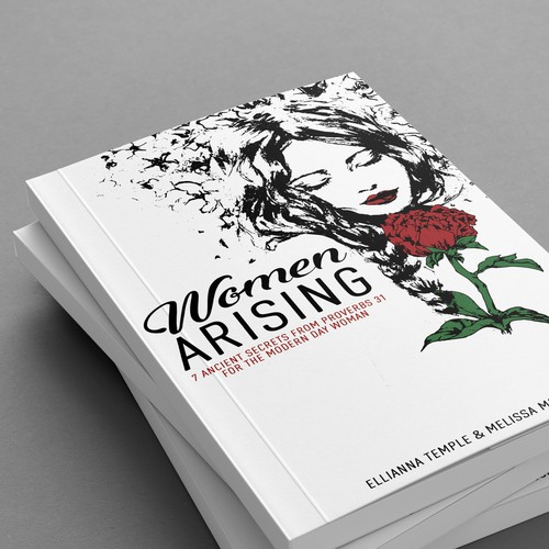 Beautiful feminine book cover design
