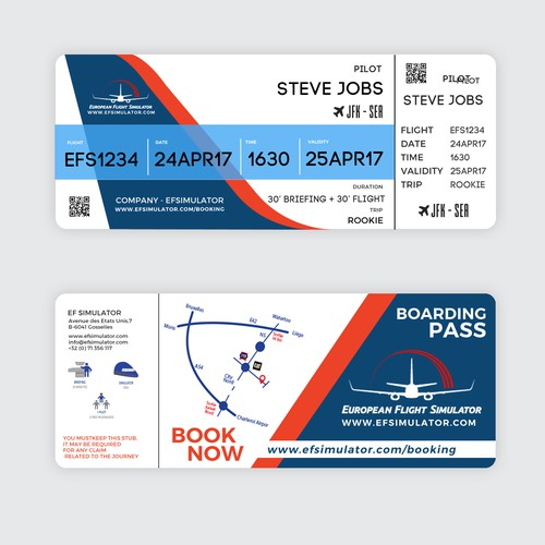 European Flight Simulator Pass design