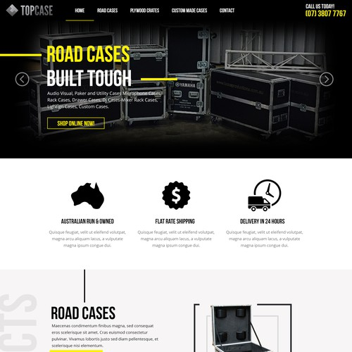 TopCase Landing Page Design