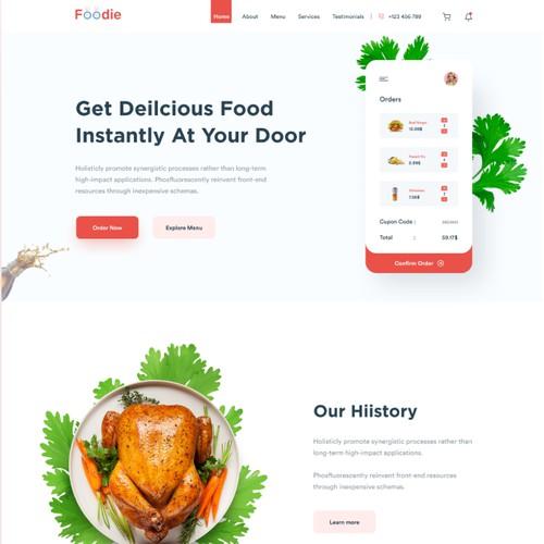 Food Landing page