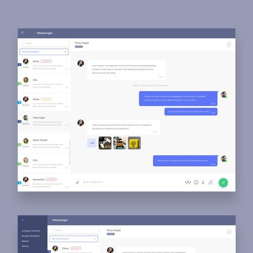 Social Network Message Centering