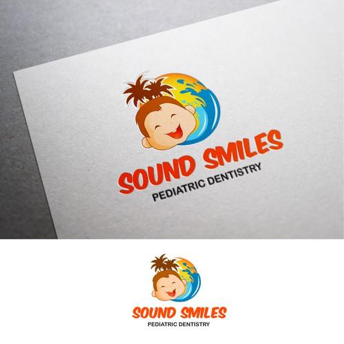 "Create a ""smiling"" logo for a pediatric dentist"