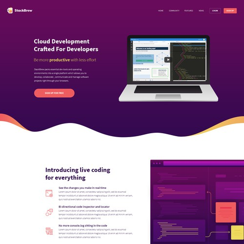 Beautiful Webpage for Development Toolkit