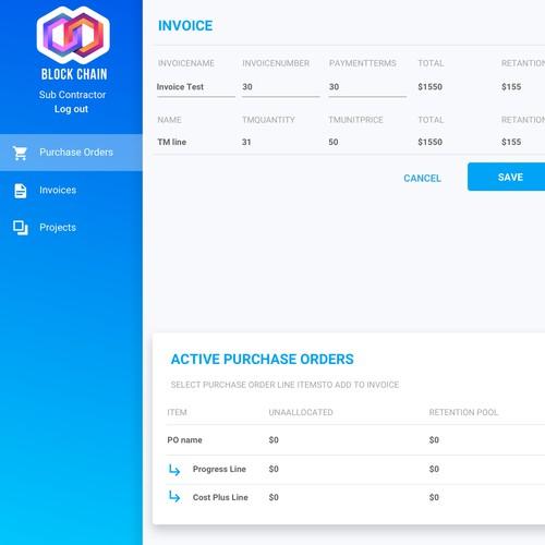 Build Chain web site design