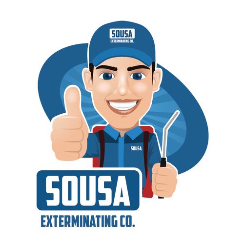 Pest Control Mascot Logo