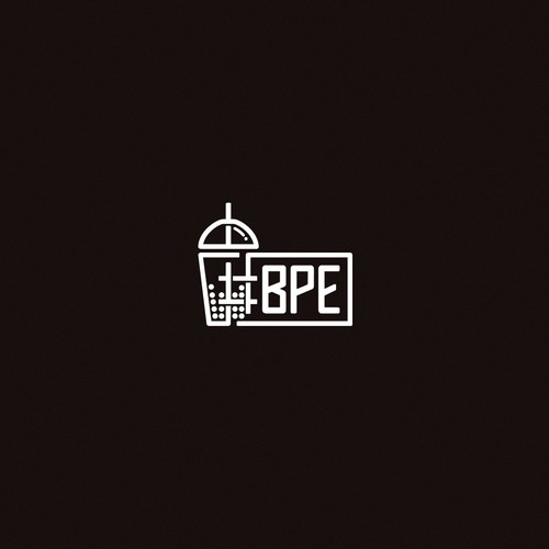 Simple logo design for a mask company aimed at boba drinkers (#BPE)