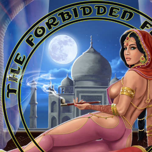 Forbidden Flower Indian Digital Painting