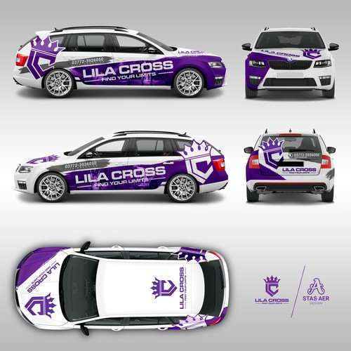 Lila Cross car wrap