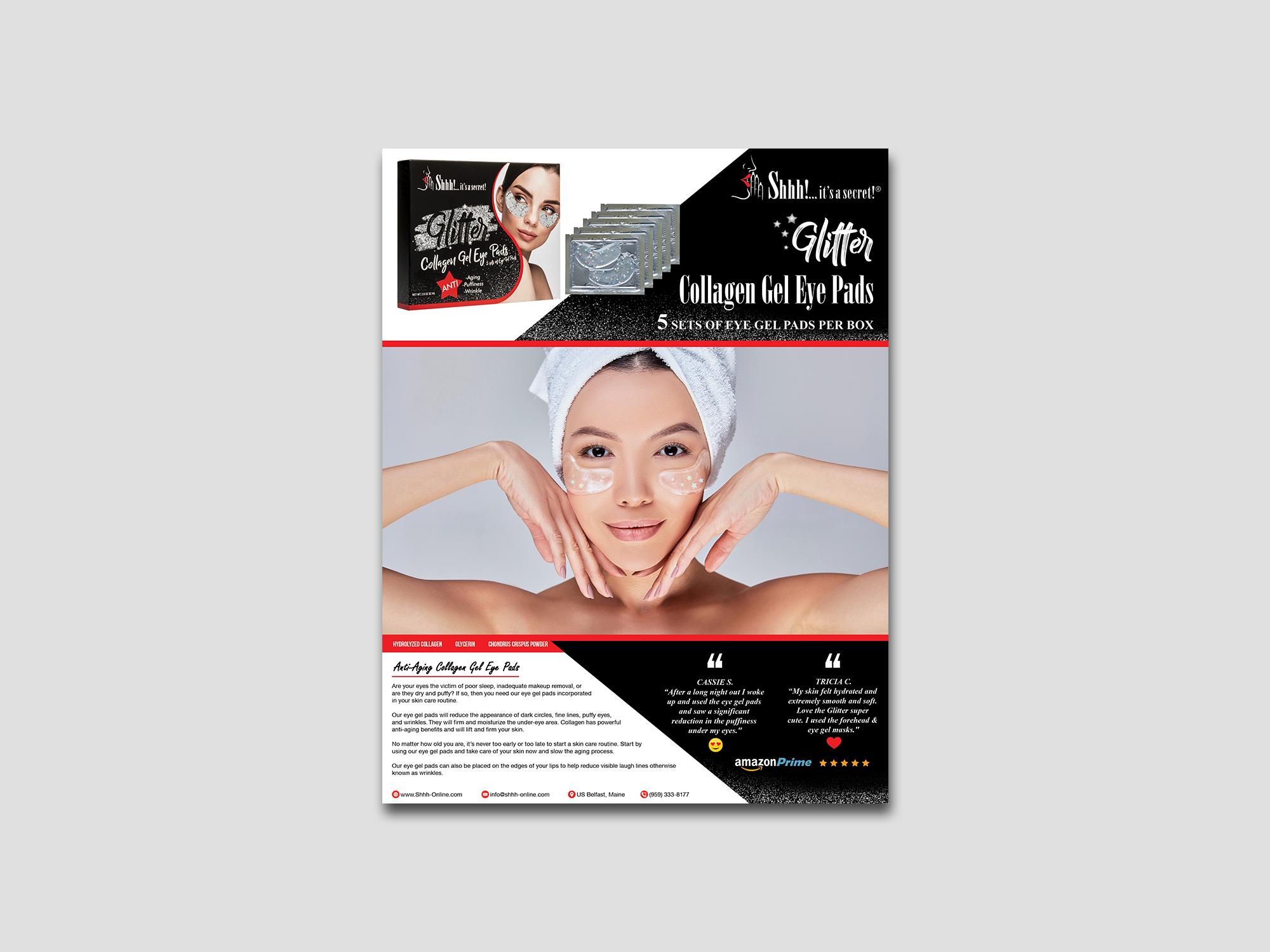 Shhh! Sell Sheets - (Eye Gel Pad & Lip Product)
