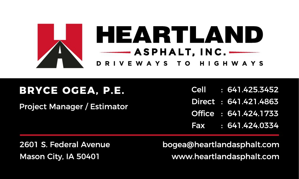 Heartland Asphalt Business Cards