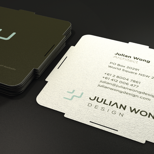 New logo and business card wanted for Julian Wong Design
