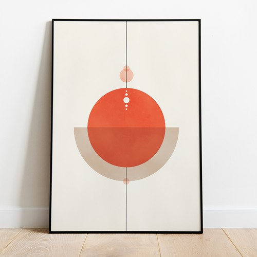 Abstract geometric minimalistic poster