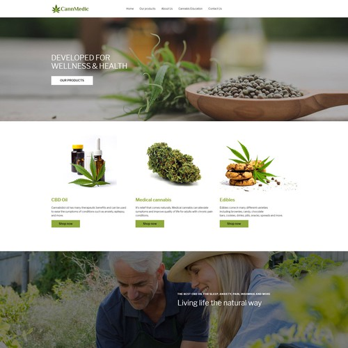 Ecommerce website for cbd indystry