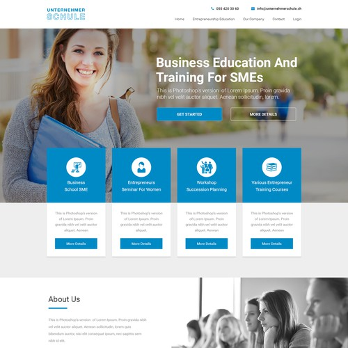Education Institute website design