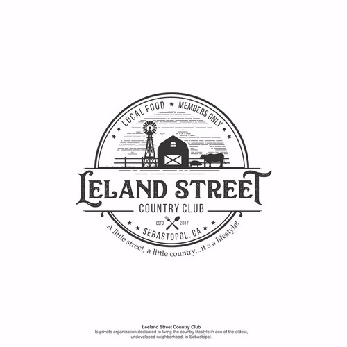 Logo concept for Leland Street Country Club