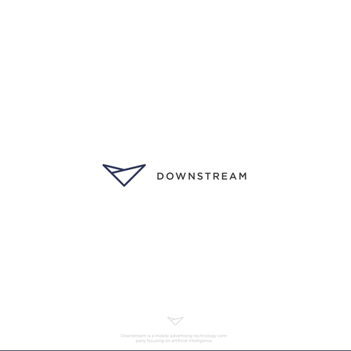 Minimalist Logo for Downstream