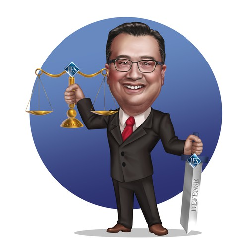 Lawyer caricature